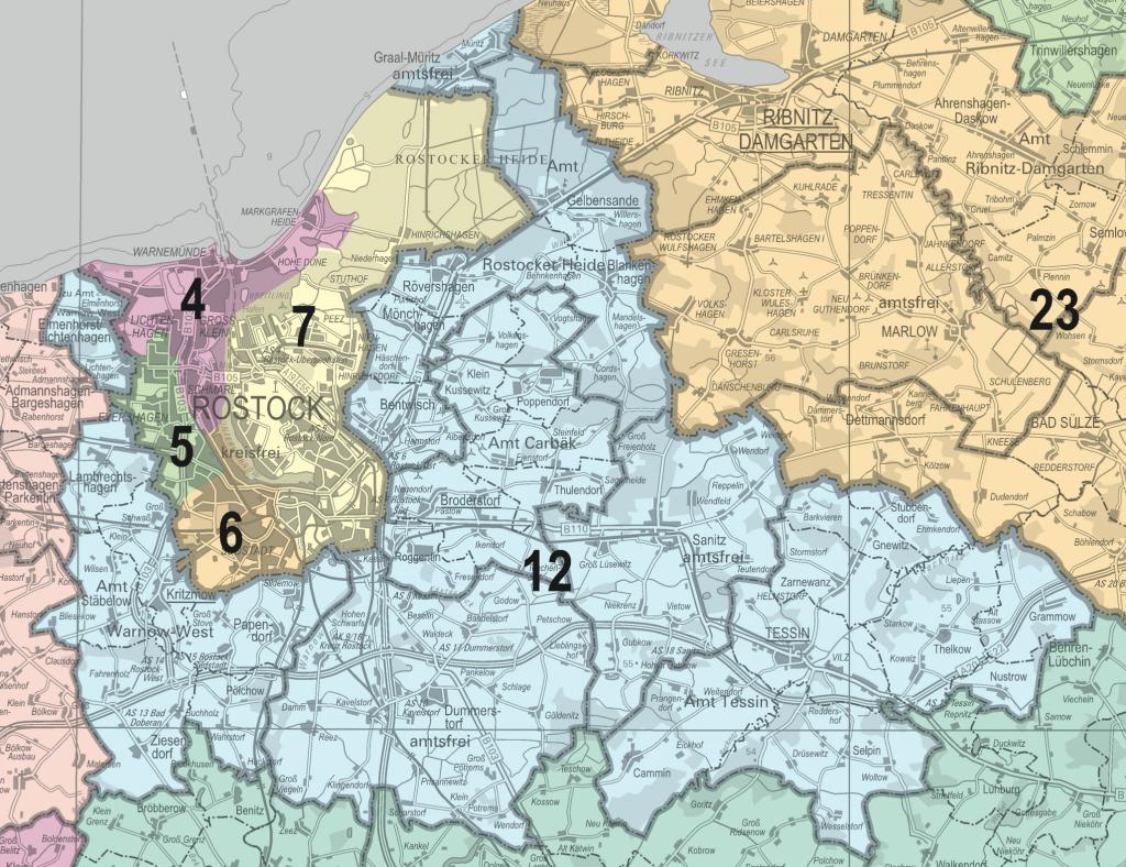 Wahlkreise bei der Landtagswahl